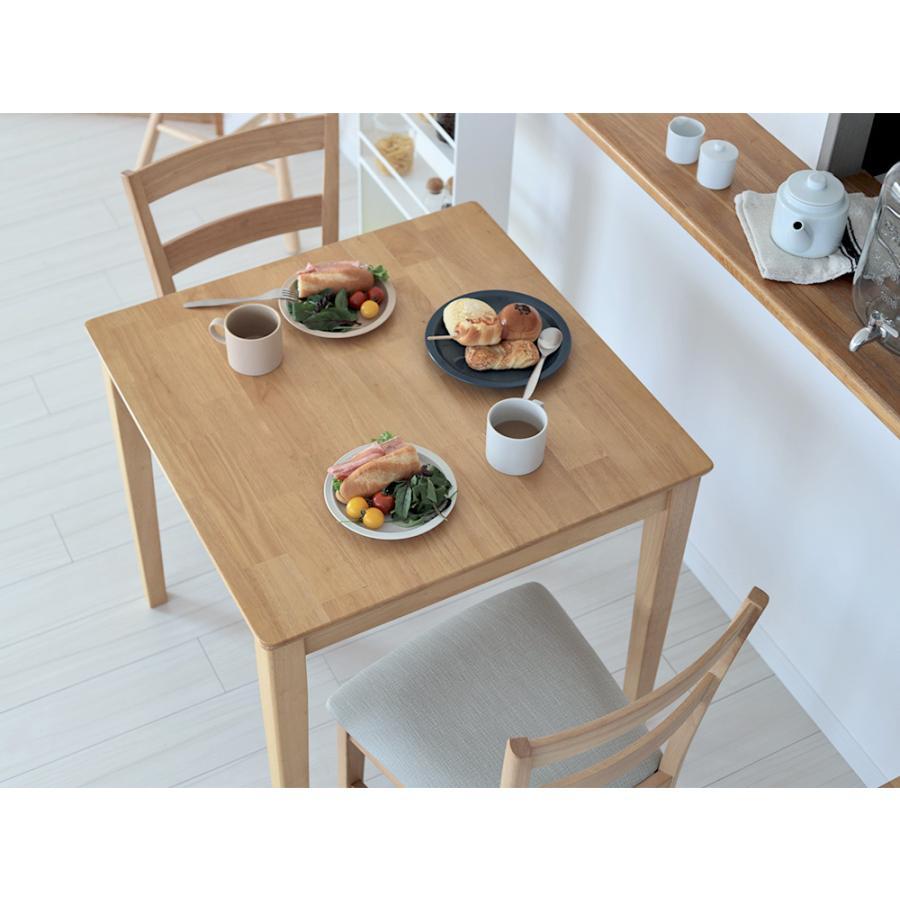 ダイニングテーブルセット 3点 2人 ダイニングセット ラバーウッド テーブル W750 チェア 2脚セット MTS-063、MTS-061|3244p|08
