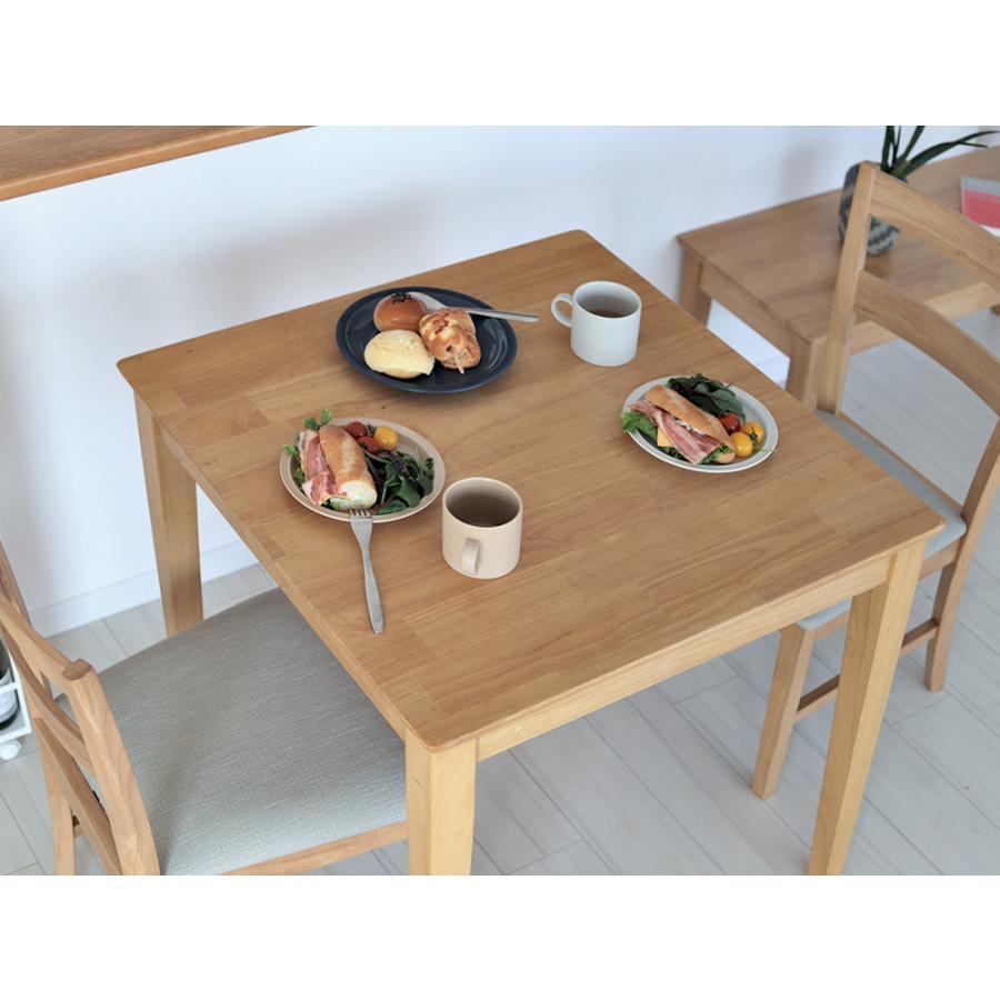 ダイニングテーブルセット 3点 2人 ダイニングセット ラバーウッド テーブル W750 チェア 2脚セット MTS-063、MTS-061|3244p|09