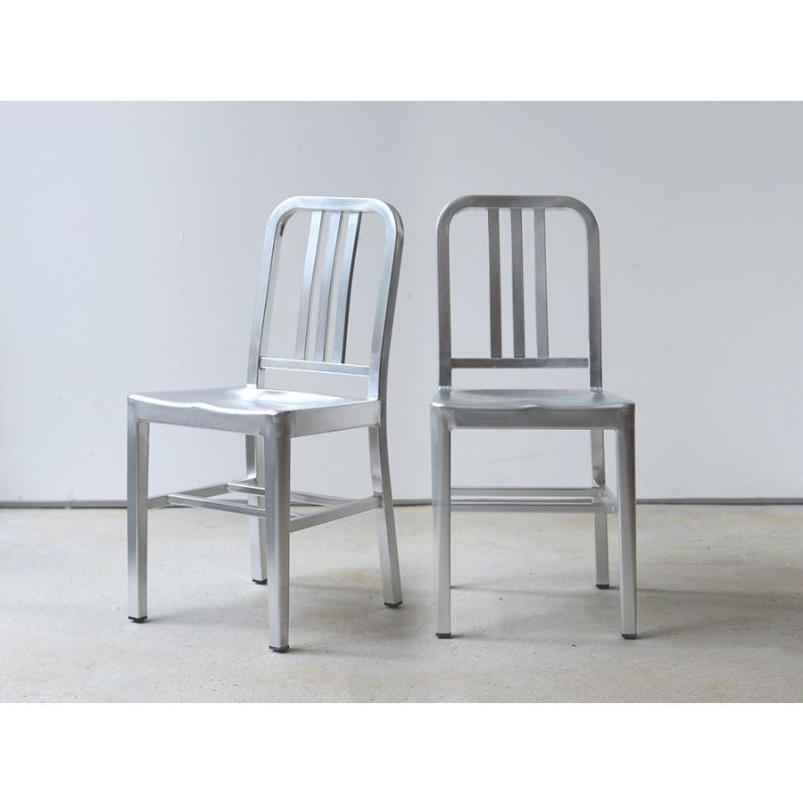ネイビーチェア 2脚セット リプロダクト 椅子 イス ダイニングチェア レッド アルミ ブラック MTS-056 3244p 02