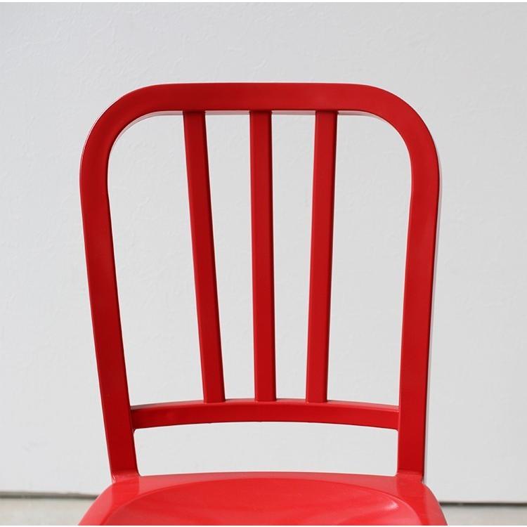ネイビーチェア 2脚セット リプロダクト 椅子 イス ダイニングチェア レッド アルミ ブラック MTS-056 3244p 14