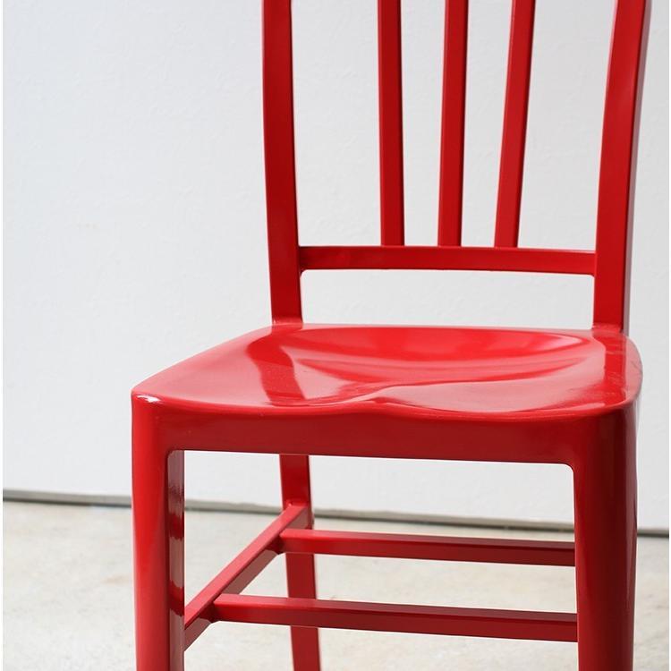 ネイビーチェア 2脚セット リプロダクト 椅子 イス ダイニングチェア レッド アルミ ブラック MTS-056 3244p 15