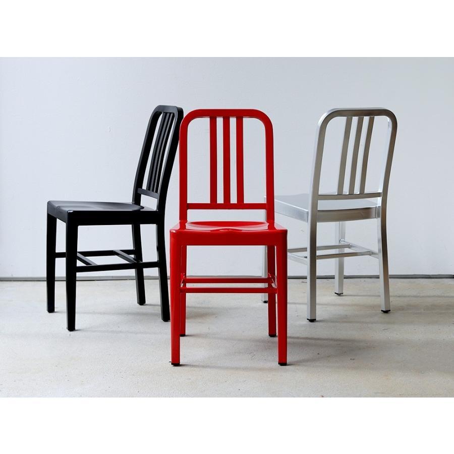 ネイビーチェア 2脚セット リプロダクト 椅子 イス ダイニングチェア レッド アルミ ブラック MTS-056 3244p 16