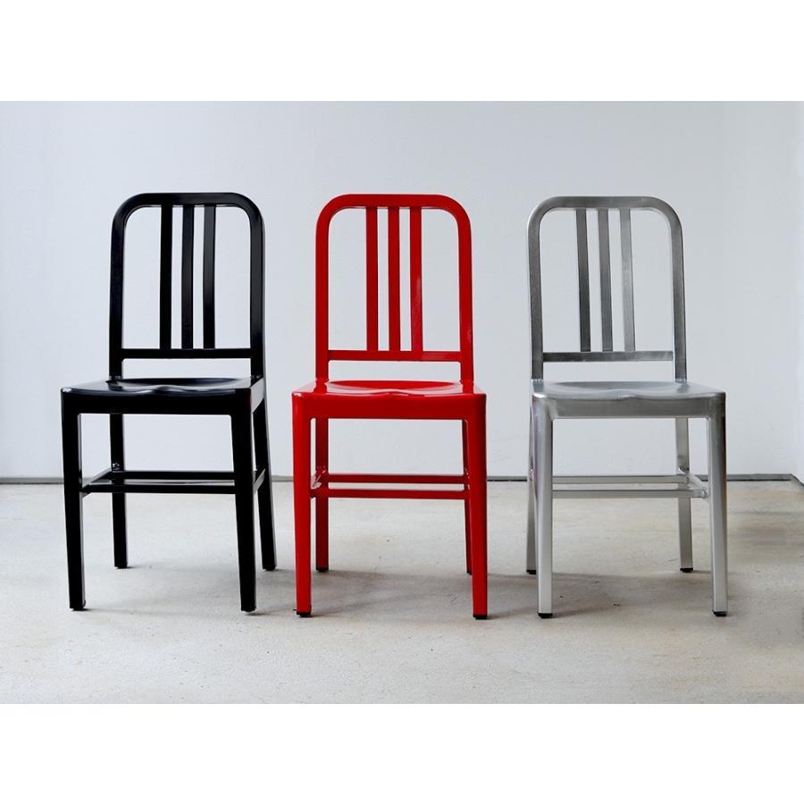ネイビーチェア 2脚セット リプロダクト 椅子 イス ダイニングチェア レッド アルミ ブラック MTS-056 3244p 03