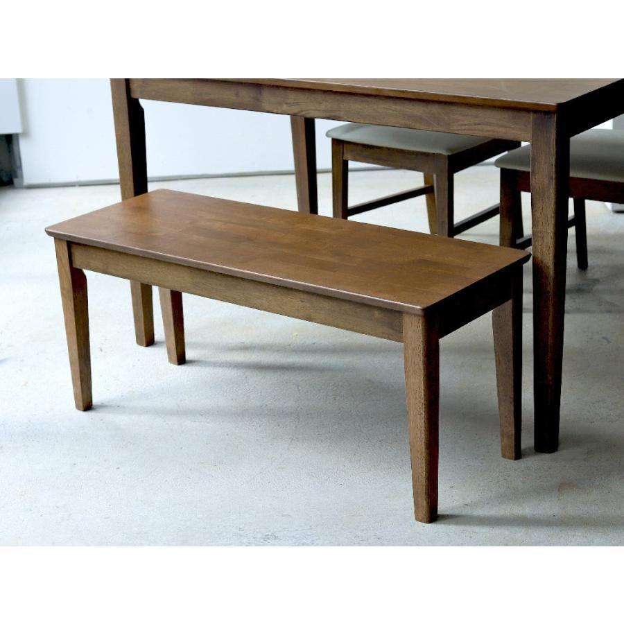 ダイニングテーブルセット 4点 4人 ダイニングセット ラバーウッド テーブル チェア 2脚 ダイニングベンチ 1台 MTS-060 MTS-152 MTS-062 NA WAL 3244p 17