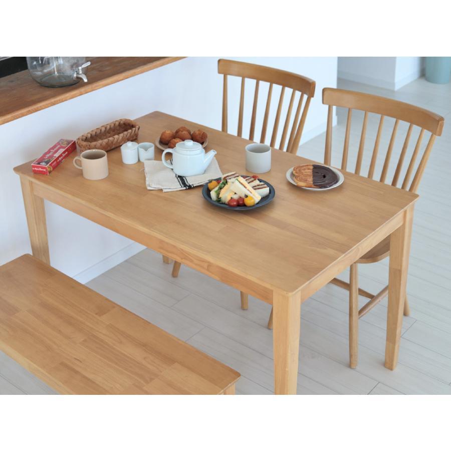 ダイニングテーブルセット 4点 4人 ダイニングセット ラバーウッド テーブル チェア 2脚 ダイニングベンチ 1台 MTS-060 MTS-152 MTS-062 NA WAL 3244p 19