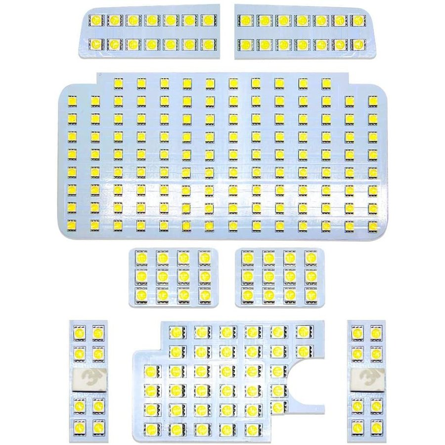 ハイエース200系 4型/5型/6型 スーパーGL用 LED ルームランプ ホワイト/イエロー カスタム 室内灯 専用設計 爆光 標準/ワイドボディ LEDバルブ 内装パーツ|34618|08