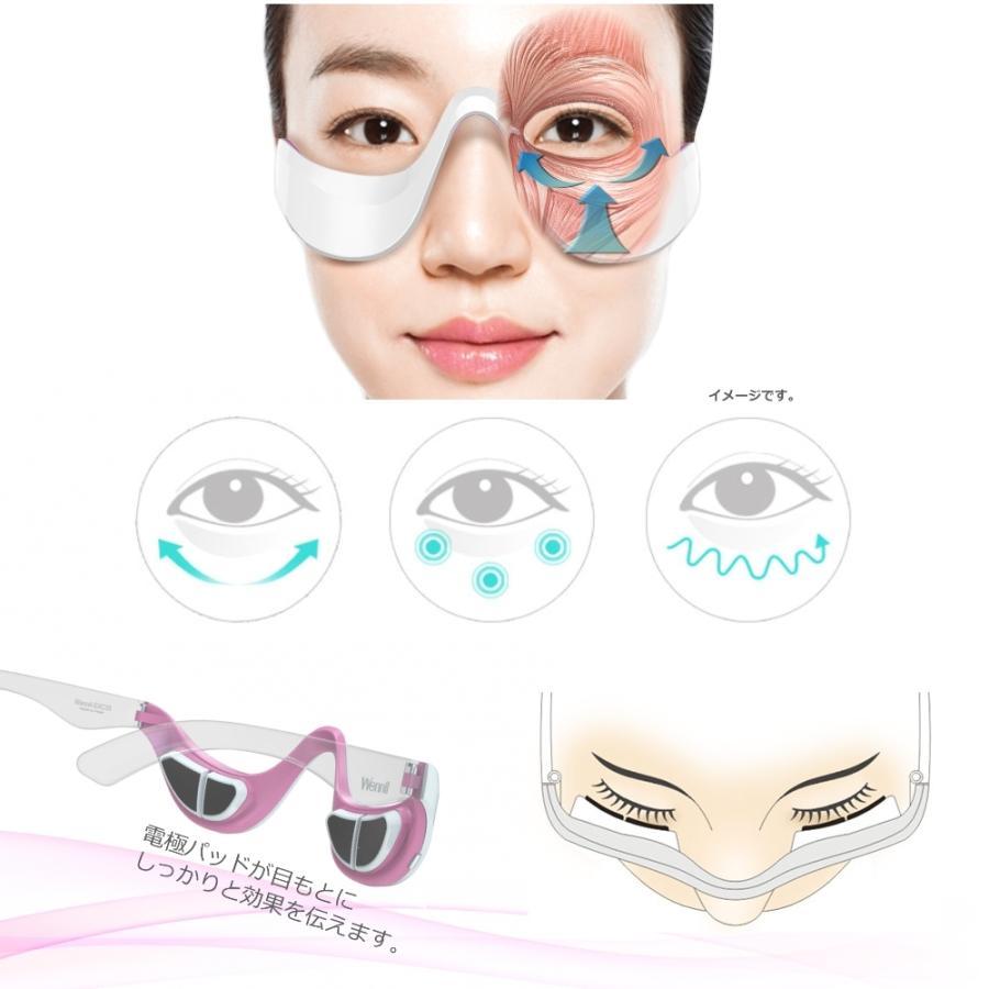 ウェニル SXC35 目元美顔器 アイマッサージ 目の下タルミ クマ 小じわスッキリ EMSエステ ホワイト/ピンク|36cosme|04