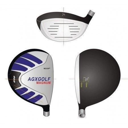 AGXGOLFレディースLEFTハンドマグナム460cc 10.5度ドライバーwレディフレックスグラファイトシャフト:長さを選択。小柄、普通
