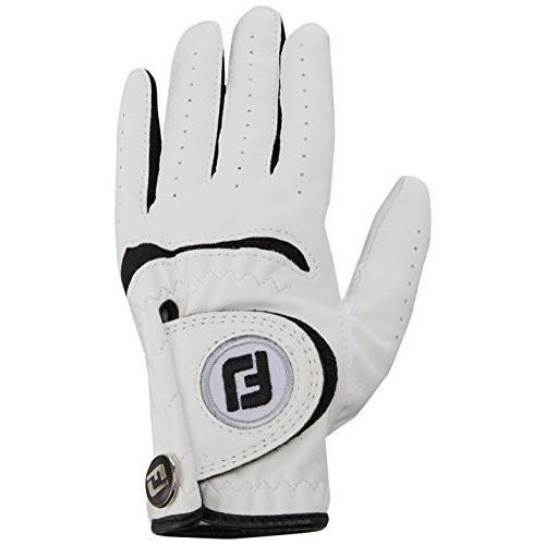 Footjoyジュニアゴルフグローブ、S、白い