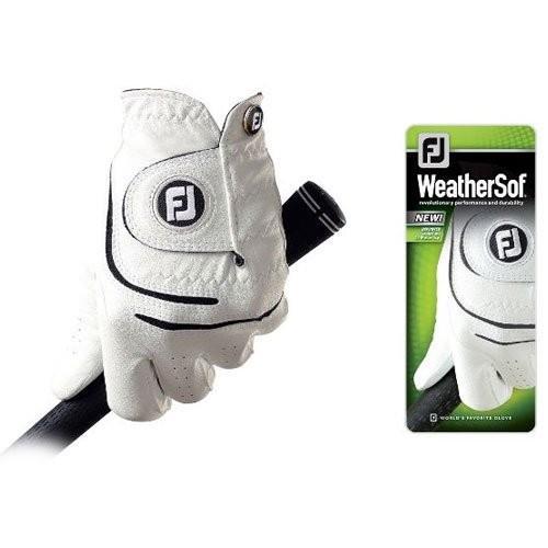FootJoy WeatherSofゴルフグローブホワイト左手メンズM