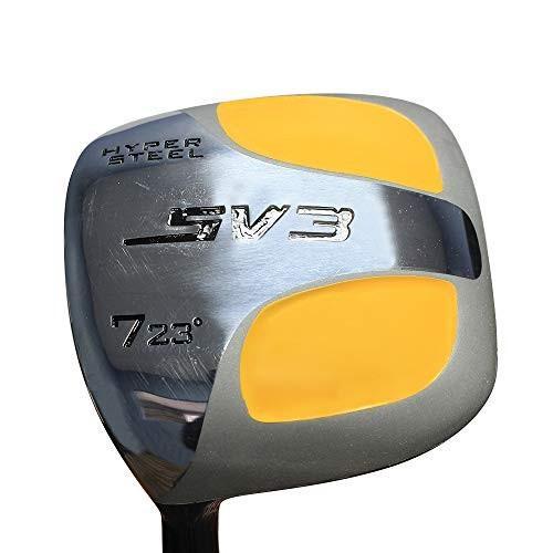 ビッグ&トールメンズ(標準より長さが1インチ長い)SV3-7ウッドゴルフクラブ、左利き用スティフフレックス