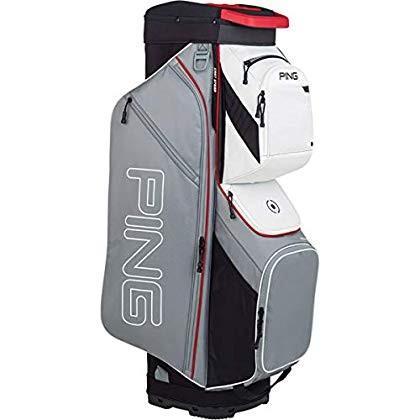 PING New 2019 Traverse 191シルバー/スカーレット/ホワイト14ウェイゴルフカートバッグ