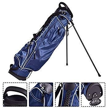 Custpromoゴルフスタンドカートバッグ4ウェイディバイダーオーガナイザーキャリーストラップ(ブルー)