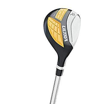 ウィルソンウルトラメンズ13ピース、左利き用ゴルフクラブセット、ブラック&イエローSKBケースデラックスATAスタンダードハードプラスチック