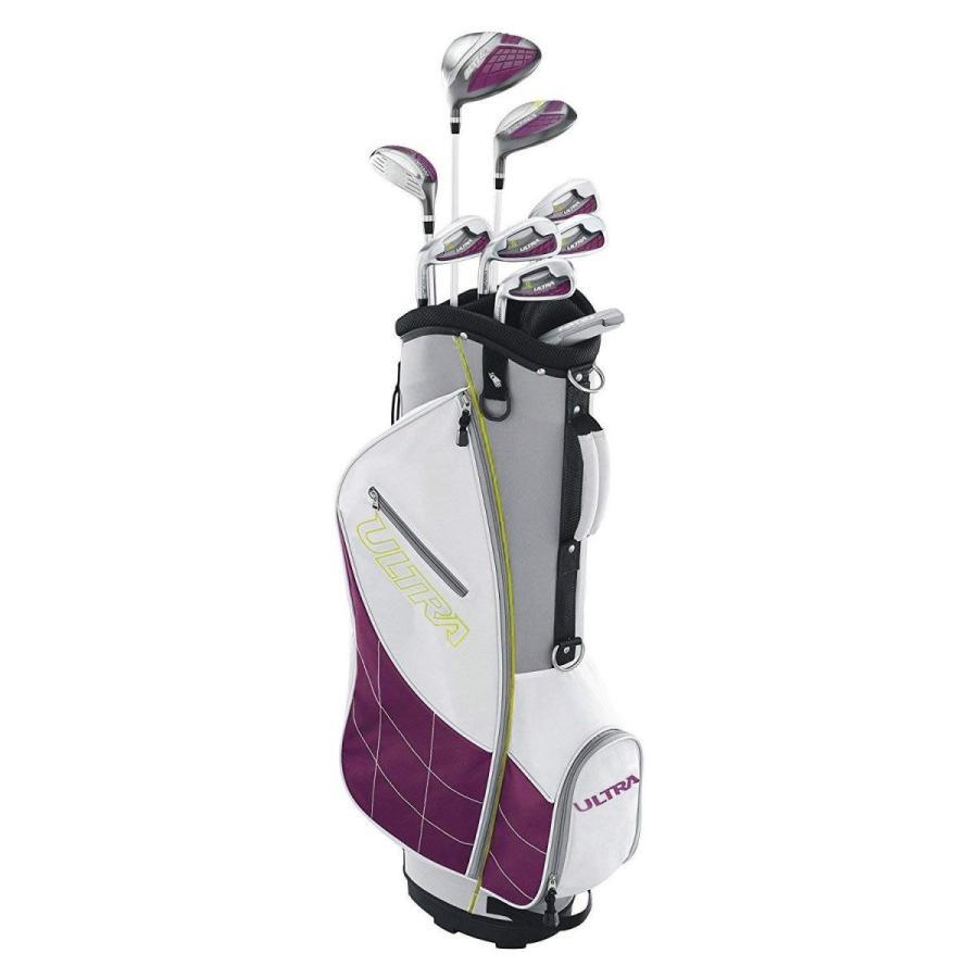 ウィルソンウルトラレディース左利き用スーパーロングゴルフクラブセットカートバッグ付き、PlumSKBケースデラックスATAスタンダードハード