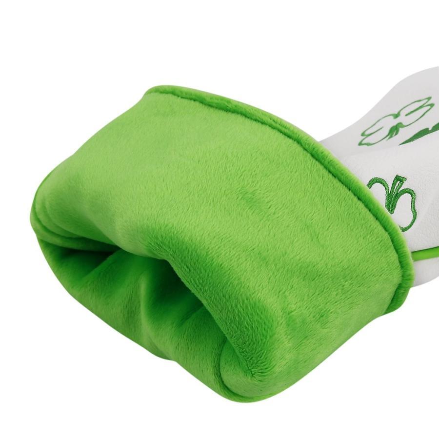 ビッグティースゴルフヘッドは交換可能な番号タグ付きラッキークローバーウッズハイブリッドレスキューユーティリティUT用ハイブリッドヘッドカバー