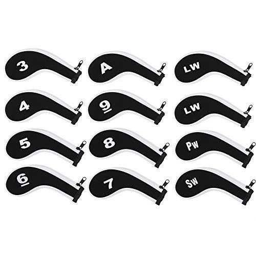 12個のネオプレンゴルフクラブアイアンヘッドのブルーセルセットはジッパー付きロングネックをカバー