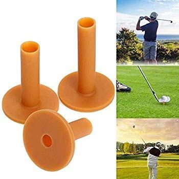 HonsCreatゴルフラバーティー、3パックラバーホルダーティーレンジドライビングプラクティスマット付きサイズ60mm / 70mm /