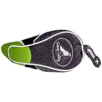 Sassy Caddyウィメンズゴルフクラブヘッドカバー、Xタブ付き、グリーン/ブラック
