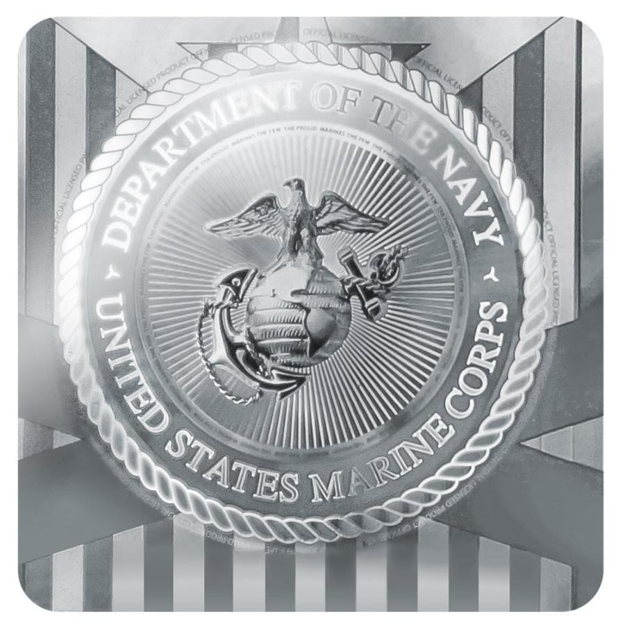 グラフィック&その他海兵隊ホワイトイーグルグローブアンカーのUSMCゴールデンロゴ正式に認可されたゴルフディボット修復ツールとボールマーカー