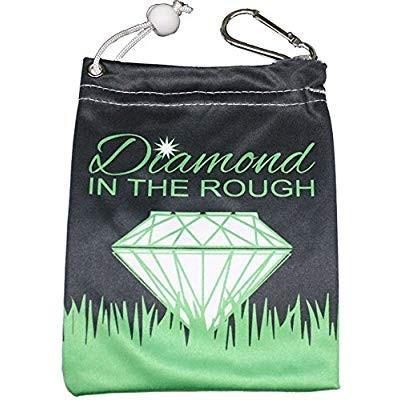 Giggle Golf Microfiber Diamond In The Rough Tee Bag With Four Wood Tee