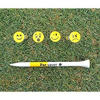 絵文字ゴルフティーIII - 笑顔でのパフォーマンス - マイクロカップ付き3インチゴルフティー - 市場で最小のカップ。楽しむ。それを粉々