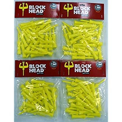 Block Head Plastic Golf Tees 2 3/4