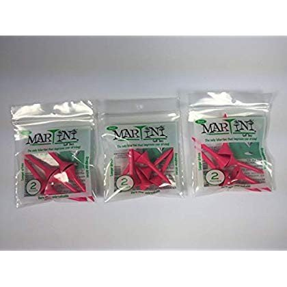 Martini 2'' Golf Tees, ピンク (6-TEES in Bag) (3-Bag Special),