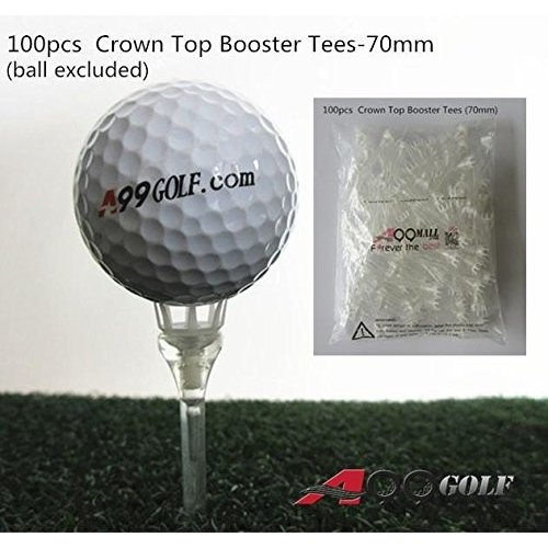 A99 Golf 2 3/4 Crown Top Booster Tees No Friction 白い 100pcs