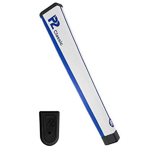 P2 Golf- Classic Core Putter Grip 白い/青