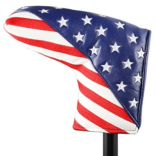 Golf Stars and Stripes Golf Putter Club Head Cover Headcover for Odyss