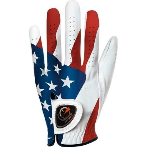 easyglove FLAG_USA-2 Men's Golf Glove (白い), XX-Large, Worn on Left