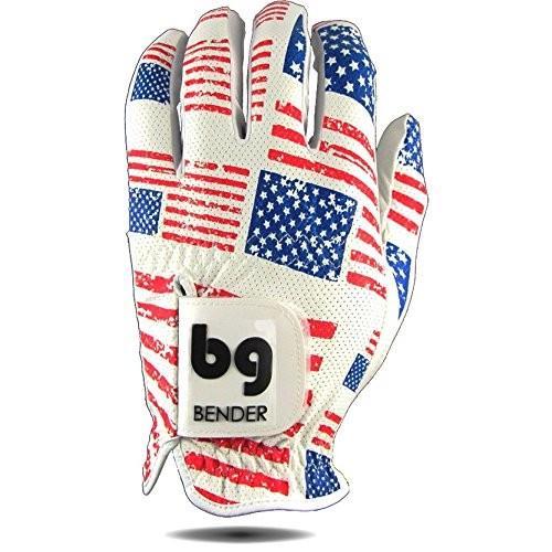 Bender Gloves Mesh Golf Gloves Men, Cabretta Leather, Worn on Left Han