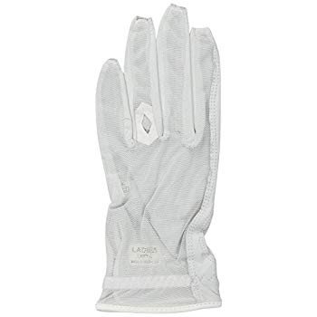 Lady Classic Solar Nail and Ring Glove, White, Large, Left Hand
