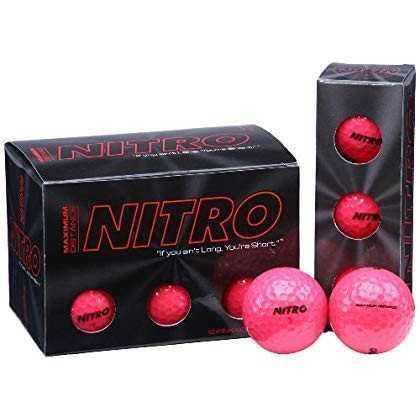 Long Distance Golf Balls (12PK) All Levels-Nitro Maximum Distance Tita