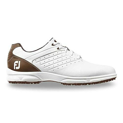 FootJoy Men's ARC SL Golf Shoes 59706 - 白い/Dark 褐色 - 12 - Medium