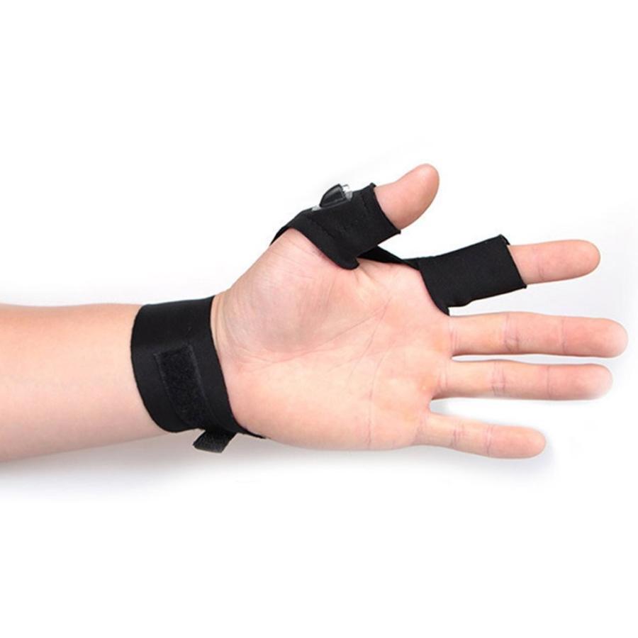 Sportsvoutdoors LED Flashlight Magic Strap Fingerless Gloves with 2 LE