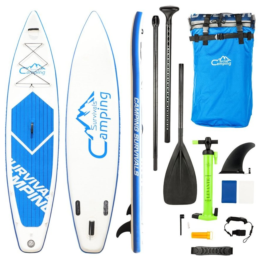 【メーカー公式ショップ】 Boylymia?Adult Inflatable SUP Stand Up Paddle Board White & Blue a Set, MARUKUMA 234bedeb