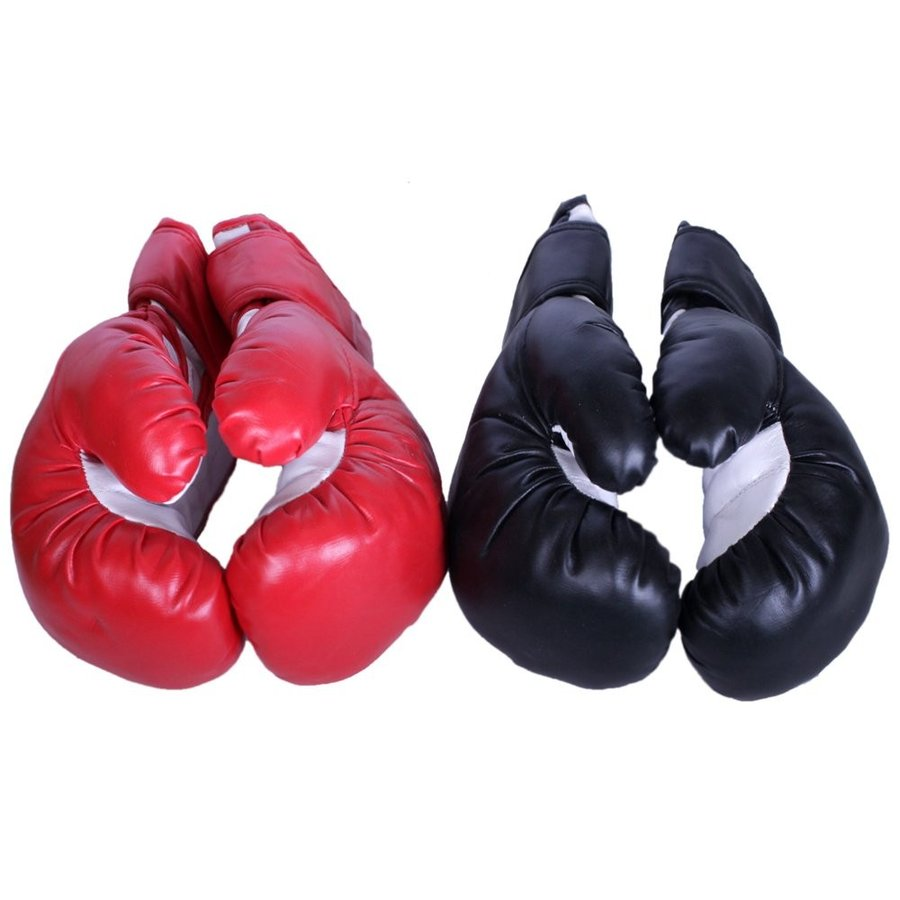 TRIPLE THREAT Quick Strap Training Boxing Gloves (Red + Black, Child -