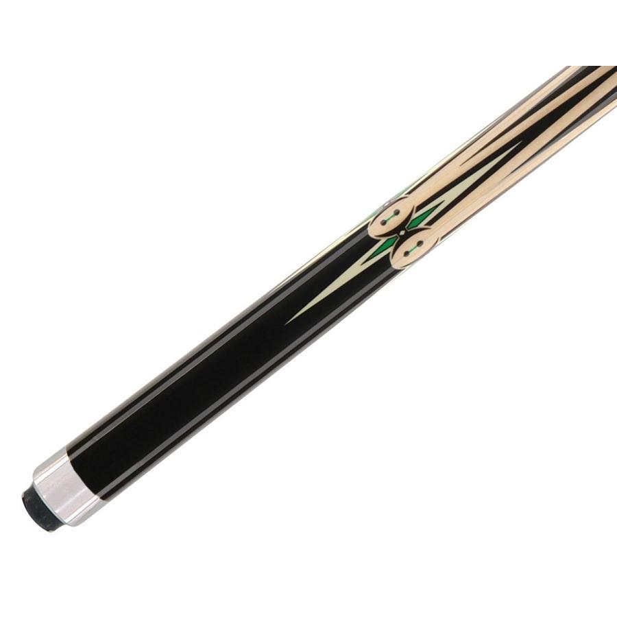 Star McDermott S61 黒 w/緑 Points Maple Pool/Billiard Cue Stick