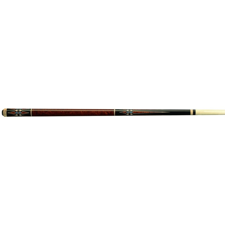 Players G-3395 Graphic Walnut Burl with Turquoise Diamonds Cue, 21-Oun
