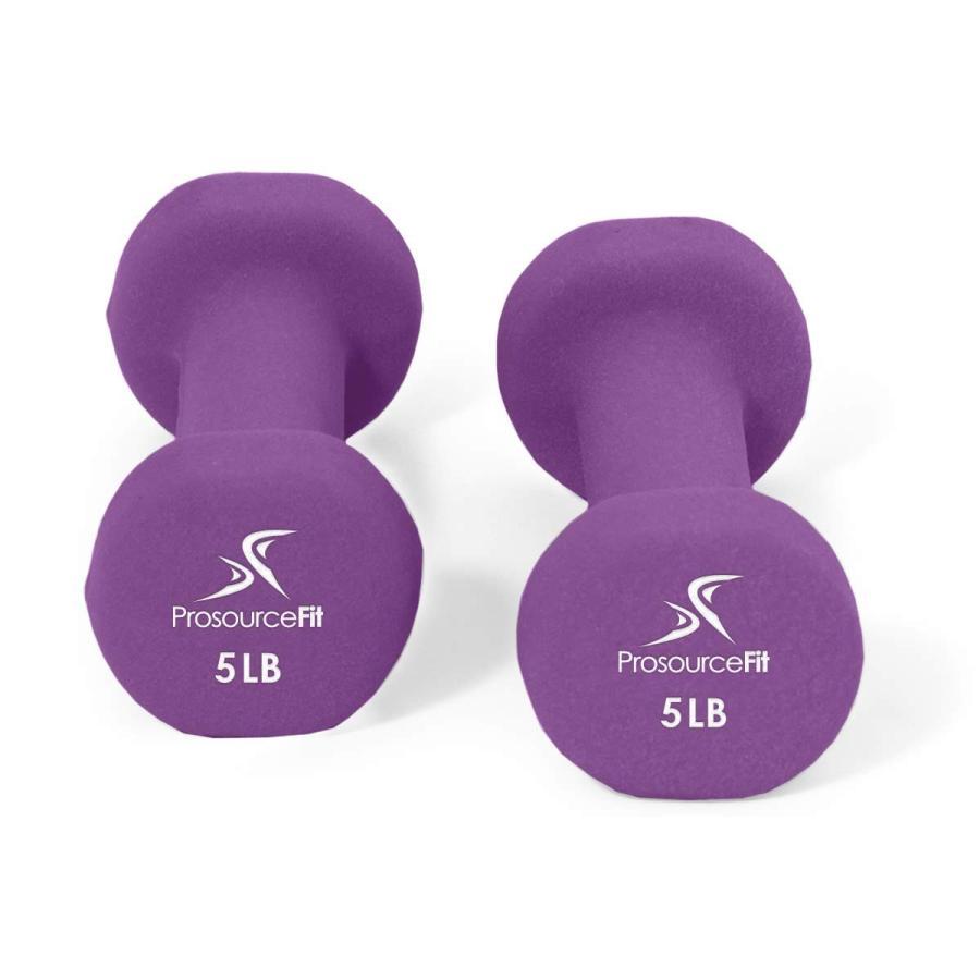 最も  ProsourceFit Set of 2 2 Neoprene Grip, Neoprene Dumbbell Coated for Non-Slip Grip, Purp, カスヤグン:27b72732 --- airmodconsu.dominiotemporario.com