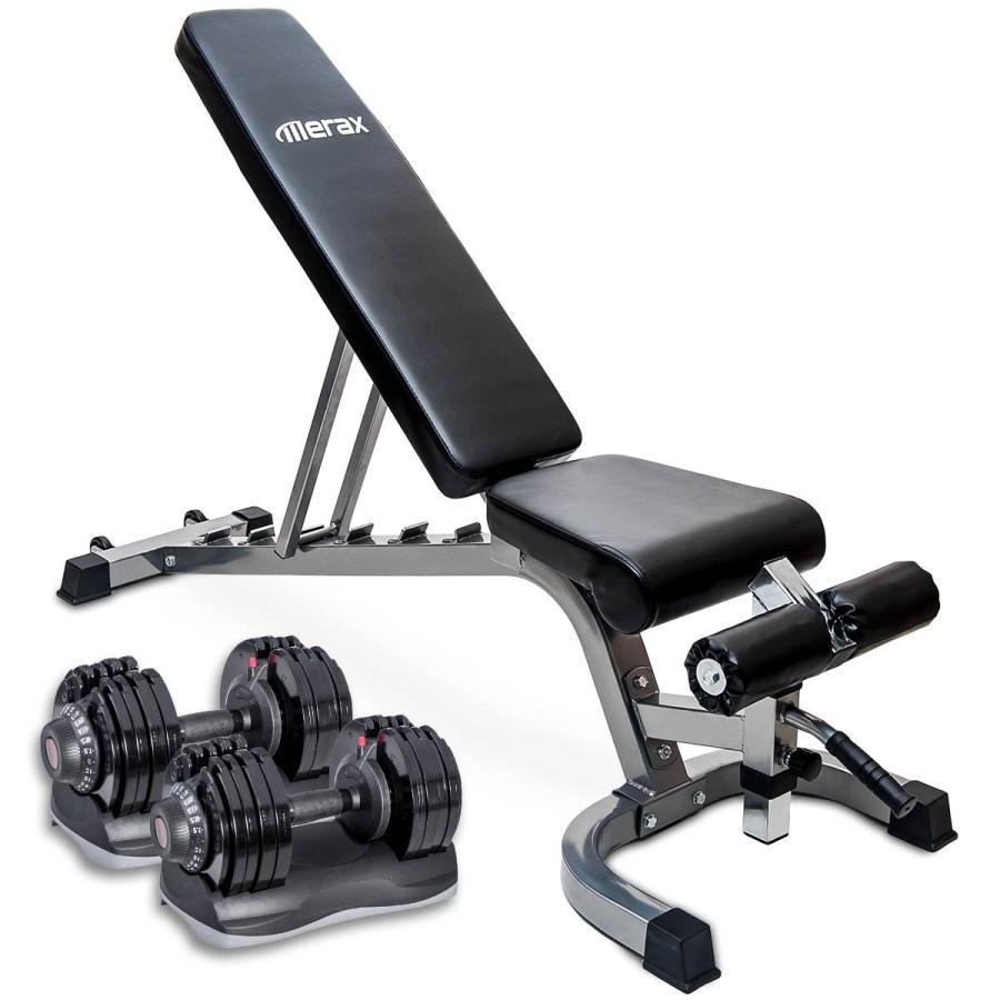新素材新作 Merax Home Gym Deluxe Adjustable Dial Dumbbell Adjustable Dial & Foldable Merax Utility Weig, ミマチョウ:3fab10ff --- airmodconsu.dominiotemporario.com