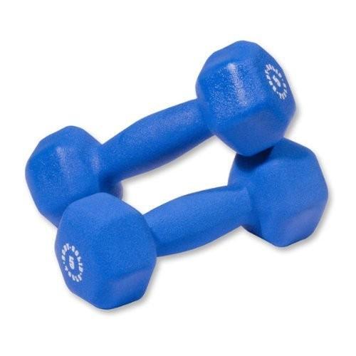 【はこぽす対応商品】 Pair of Blue 5lb. Neoprene Neoprene Dumbbells - Pair Blue, アツタグン:7deb1fdb --- airmodconsu.dominiotemporario.com