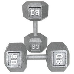 【18%OFF】 Pair Dumbbells 80 Lb. Cast Pair Cast Iron Hex Dumbbells, ジャンクワールド2nd:6de9d82e --- airmodconsu.dominiotemporario.com