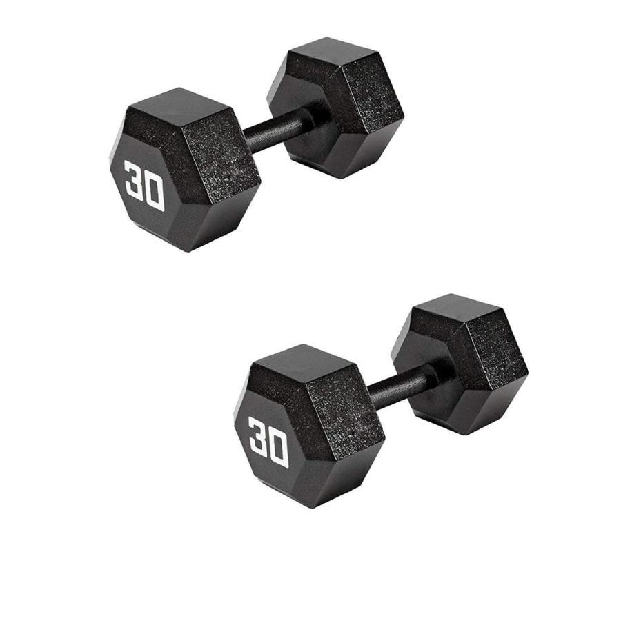 低価格で大人気の Marcy Pro TSA Hex 30 Pound Eco Friendly Iron Free Weight Dumbbell (2 P, 福島県 b3685ba1