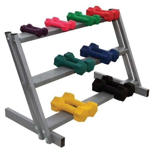Dumbbell Rack, 3 Tier, Floor Stand, Holds up to 20 Dumbbells
