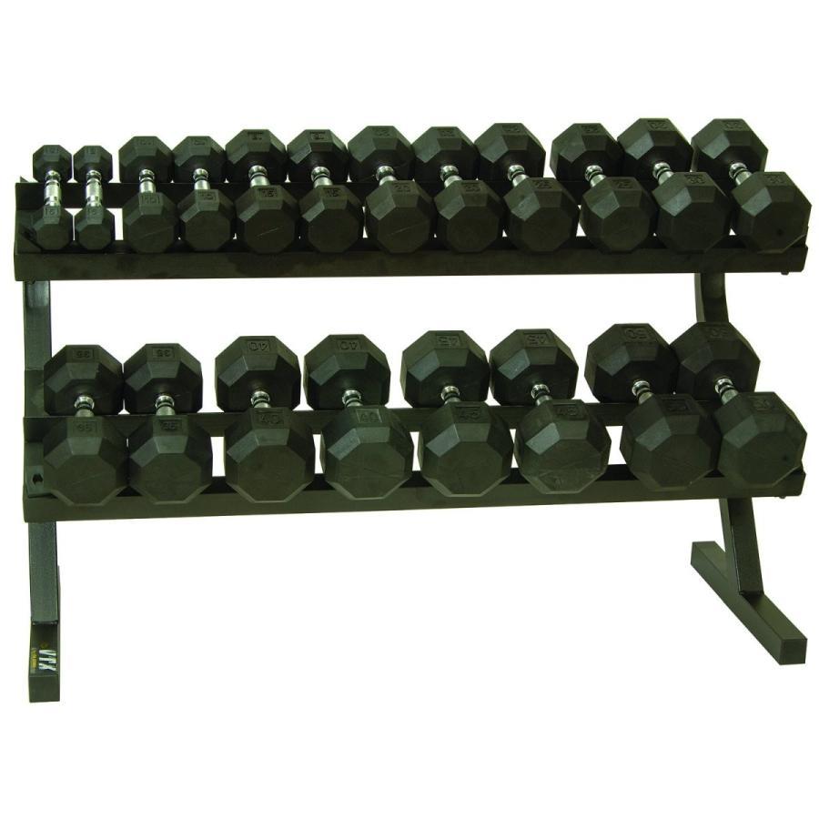 売れ筋商品 FIT1ST Troy VTX Hex Rubber Encased Dumbbells, 野球用品専門店スワロースポーツ 7e2f3b31