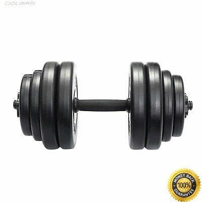 上質で快適 COLIBROX-- Weight Dumbbell Set 64 LB Adjustable Cap Gym Barbell Plates, よかねっとはかた d46d903f