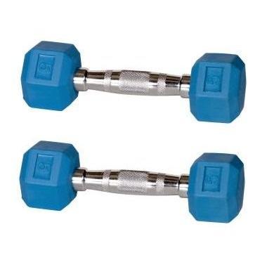【正規品】 York Barbell Hex Color Coded Rubber Hex Dumbbells Dumbbells Rubber - 5 lbs. Sky Blue (Pair), 利島村:4f7df9b8 --- airmodconsu.dominiotemporario.com